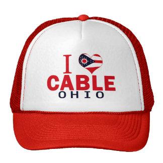 I love Cable, Ohio Hats