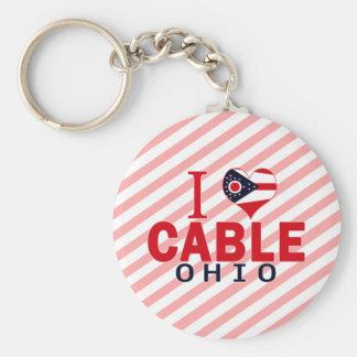 I love Cable, Ohio Keychains