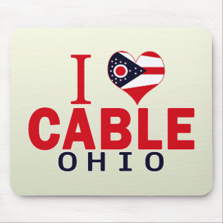 I love Cable, Ohio Mouse Pad
