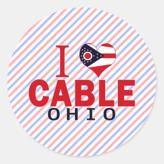 I love Cable, Ohio Round Stickers