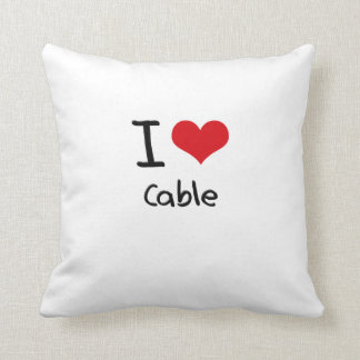 I love Cable Pillows