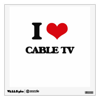 I love Cable TV Wall Skin
