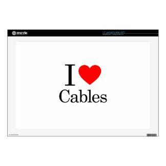 """I Love Cables 17"""" Laptop Decal"""