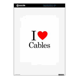 I Love Cables iPad 2 Skins