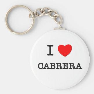 I Love Cabrera Key Chain