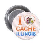 I Love Cache, IL Pinback Buttons