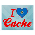 I Love Cache, Oklahoma Print