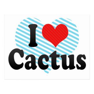 I Love Cactus Postcard