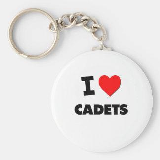 I love Cadets Basic Round Button Keychain