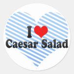 I Love Caesar Salad Round Sticker