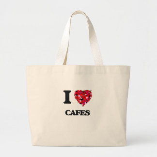 I love Cafes Jumbo Tote Bag