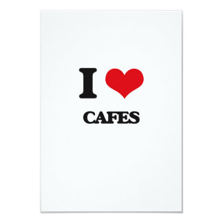 I love Cafes Personalized Invite