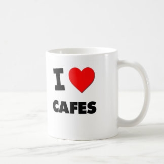 I love Cafes Classic White Coffee Mug