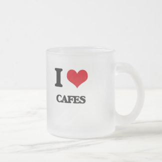 I love Cafes 10 Oz Frosted Glass Coffee Mug
