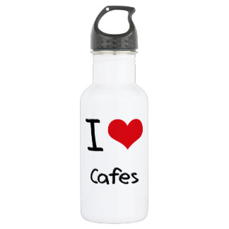 I love Cafes 18oz Water Bottle