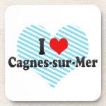 I Love Cagnes-sur-Mer, France Drink Coaster