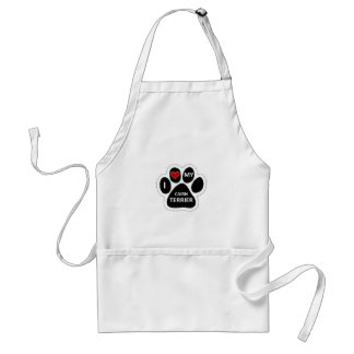 I love Cairn terrier Adult Apron