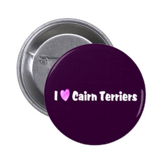I Love Cairn Terriers 2 Inch Round Button