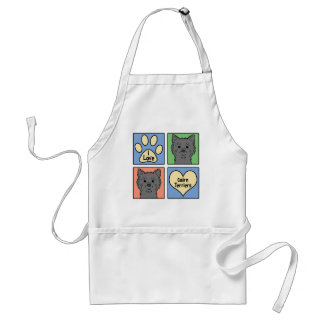 I Love Cairn Terriers Adult Apron