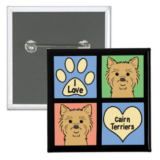 I Love Cairn Terriers Pinback Button