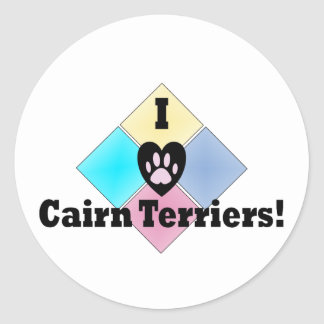 I Love Cairn Terriers Stickers