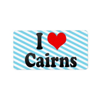 I Love Cairns, Australia Custom Address Labels