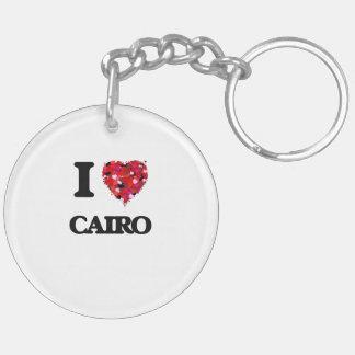 I love Cairo Egypt Double-Sided Round Acrylic Keychain