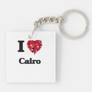 I love Cairo Egypt Double-Sided Square Acrylic Keychain