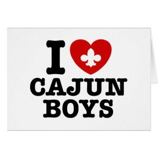I Love Cajun Boys Greeting Card