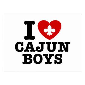 I Love Cajun Boys Postcard