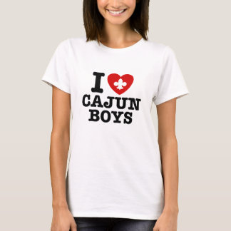 I Love Cajun Boys T-Shirt