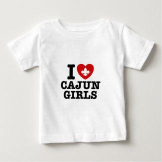 I Love Cajun Girls Baby T-Shirt