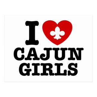 I Love Cajun Girls Postcard
