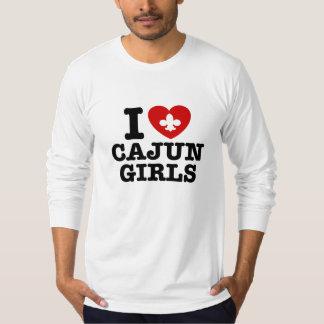 I Love Cajun Girls T-Shirt