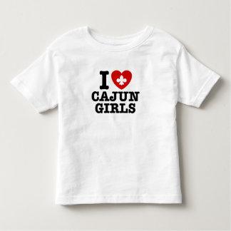 I Love Cajun Girls Toddler T-shirt