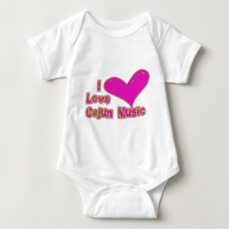 I Love Cajun Music Baby Bodysuit