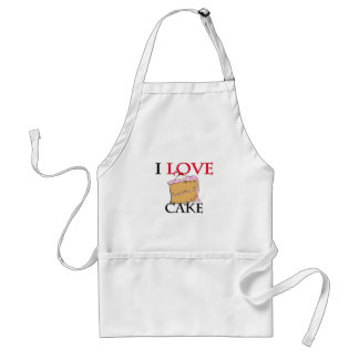 I Love Cake Adult Apron