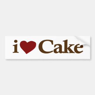 I Love Cake Car Bumper Sticker