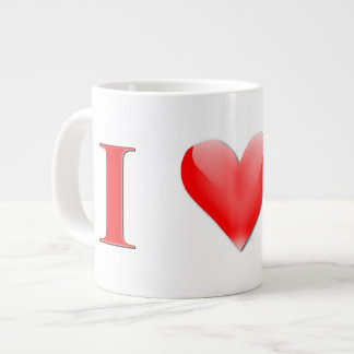 I Love Cake Giant Coffee Mug