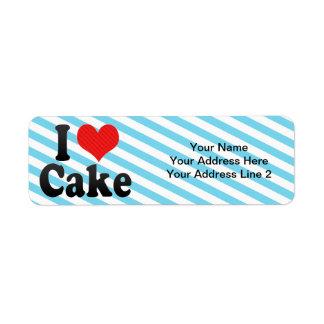 I Love Cake Return Address Label