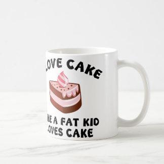 I Love Cake Like A Fat Kid Loves Cake Coffee Mug