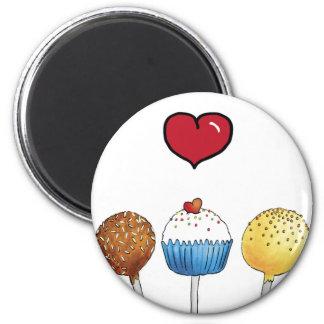 I love cake pops fridge magnets