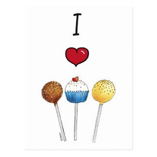 I love cake pops postcard