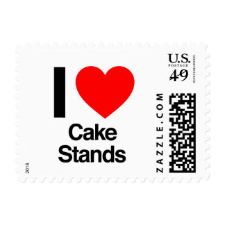 i love cake stands stamps