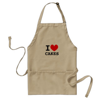 I love cakes | Personalizable i heart aprons