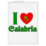 I Love Calabria Italy Card