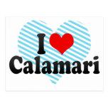 I Love Calamari Postcard