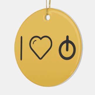I Love Calculating Radius Double-Sided Ceramic Round Christmas Ornament