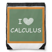 I Love Calculus Drawstring Bag