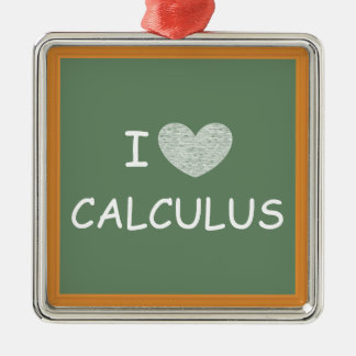 I Love Calculus Metal Ornament
